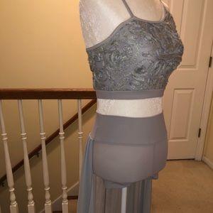 Grey lyrical/contemporary dance costume!